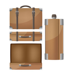 luggage travel bags isolated set vector image
