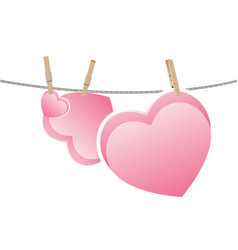 heart on rope vector image