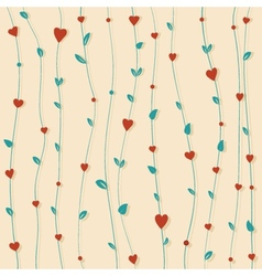 Abstract floral background with hearts and flowers vector