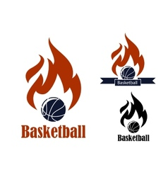 Basketball sport emblems vector