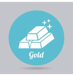 Gold icon vector