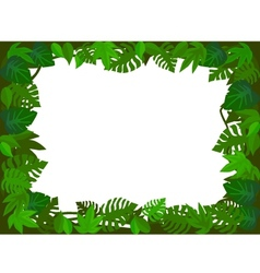 Green leaf frame vector