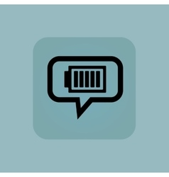 Pale blue charged battery message vector