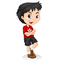 Hong kong boy standing vector