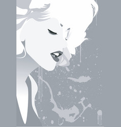 Blondie vector image