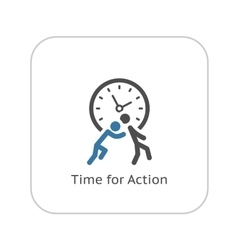 Time for action icon flat design vector