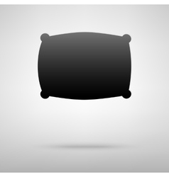 Pillow black icon vector