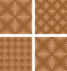 Brown seamless pattern background set vector