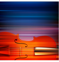 Abstract blur music background with violin vector