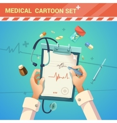 Medicine cartoon vector