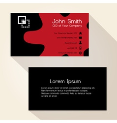 Simple red spot black business card design eps10 vector