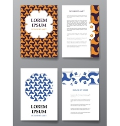 Cover brochure design arabic traditional vector