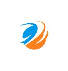Abstract round logo vector