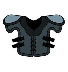 American football jacket icon vector