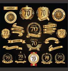 Anniversary retro vintage badges and labels vector
