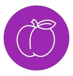 Apple line icon vector