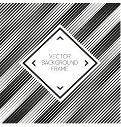 background striped abstract with frame vector image vector image