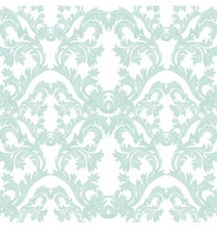 Baroque floral damask pattern vector