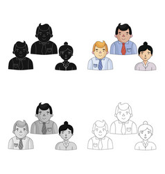 business partners icon in cartoon style isolated vector image vector image