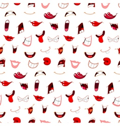 Cartoon mouths pattern vector