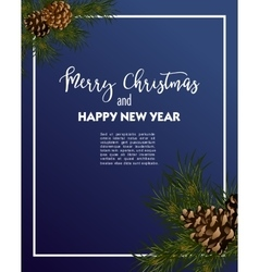 Christmas greeting-card with fir-tree vector