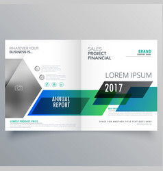 Creative business brochure bifold template design vector