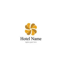 decoration hotel logo vector image