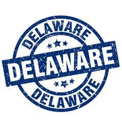 Delaware blue round grunge stamp vector