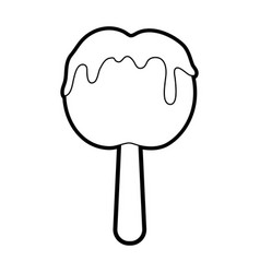 Delicious candy apple icon image vector