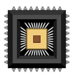 Electronic chip microchip vector