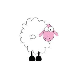 funny sheep animal with big eye vector image