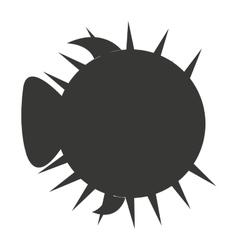 Globe fish animal marine icon vector
