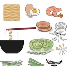 Instant noodles vector image vector image