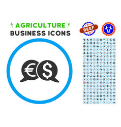 International payments rounded icon with set vector