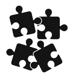 Jigsaw puzzles icon simple style vector image vector image