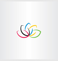 Lotus logo flower symbol vector