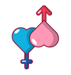 Love male and female icon cartoon style vector