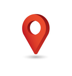 Map pointer symbol flat isometric icon or logo vector