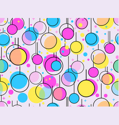 memphis seamless pattern with christmas balls new vector image vector image