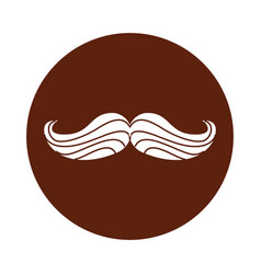 mustache hipster isolated icon vector image