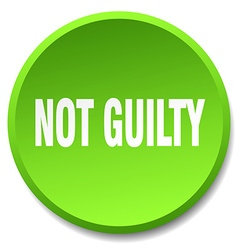Not guilty green round flat isolated push button vector