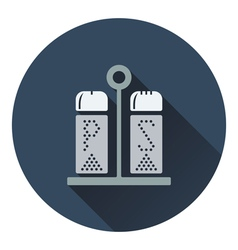 Pepper and salt icon vector image