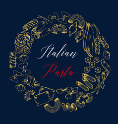 Poster for pasta or italian cuisine menu vector