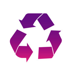 purple recycle sign icon vector image vector image