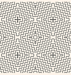 Seamless pattern with rounded wavy lines vector