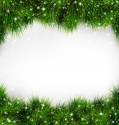 Shiny Green Christmas Tree Pine Branches Like vector image vector image