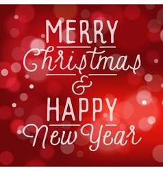 slogan for Christmas and New Year holidays vector image vector image