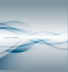 Smoky blue wave on gray background vector