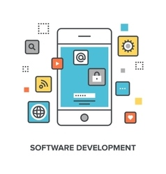 Software development concept vector