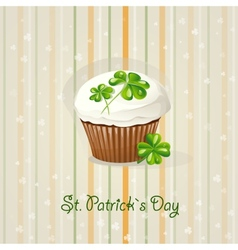 St patricks day background with cake vector